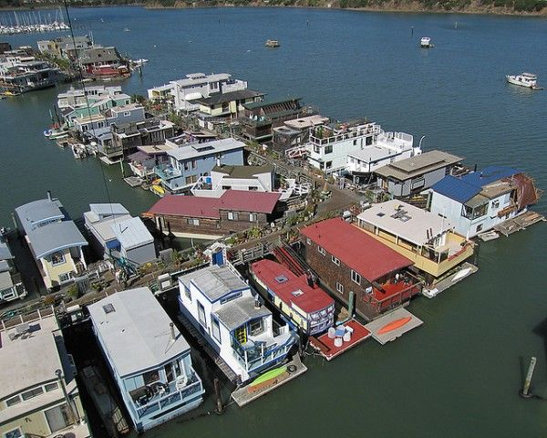 Sausalito Floating Homes in San Francisco Bay area