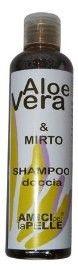 ALOE MIRTO SHAMPOO DOCCIA 200 ML Aloe Mirto Shampoo-doccia 200 ML a base di succo di Aloe Vera delle isole Canarie e Mirto