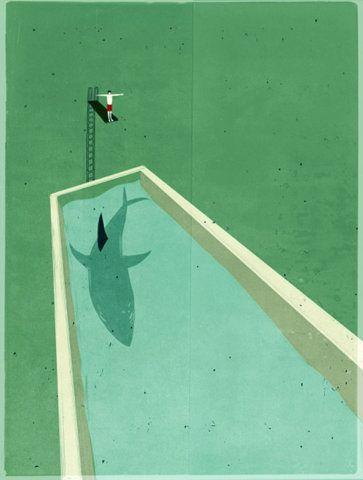 Beautiful use of perspective - Alessandro Gottardo  -   #painting #art