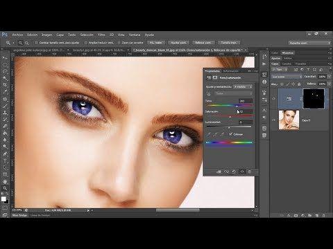 Cambiar el Color de Ojos y Labios - Photoshop Tips y Trucos Vol. 4 - YouTube