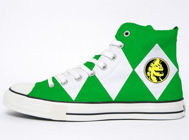 Green Power Ranger Converse by dvsor2800 on DeviantArt