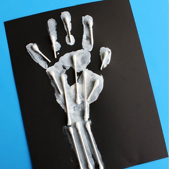 Q-Tip Handprint Skeletons