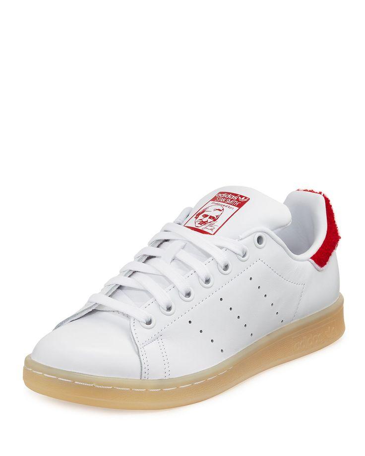 Stan Smith Winter Sneaker, White/Red