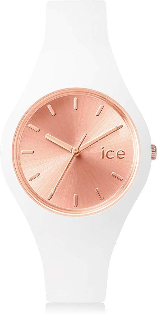 Watch Mit Ice Rose Chic White Weiße Damenuhr Gold O8kwPn0