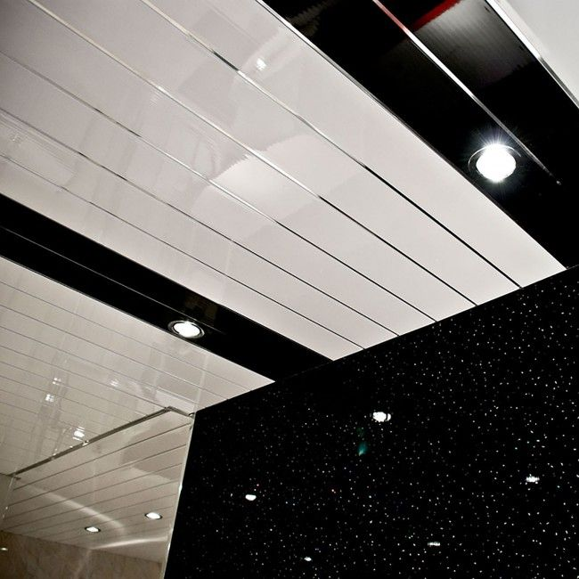 White with Chrome Strip Wall or Ceiling Cladding Panel (5mm x 200mm x 4m x 5 | GeoPanel)) - Buy Decorative Cladding Online - Shop at National Plastics