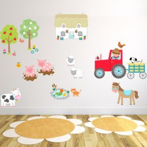 Farmyard Fun Fabric Wall Stickers   Wall Stickers Part 52