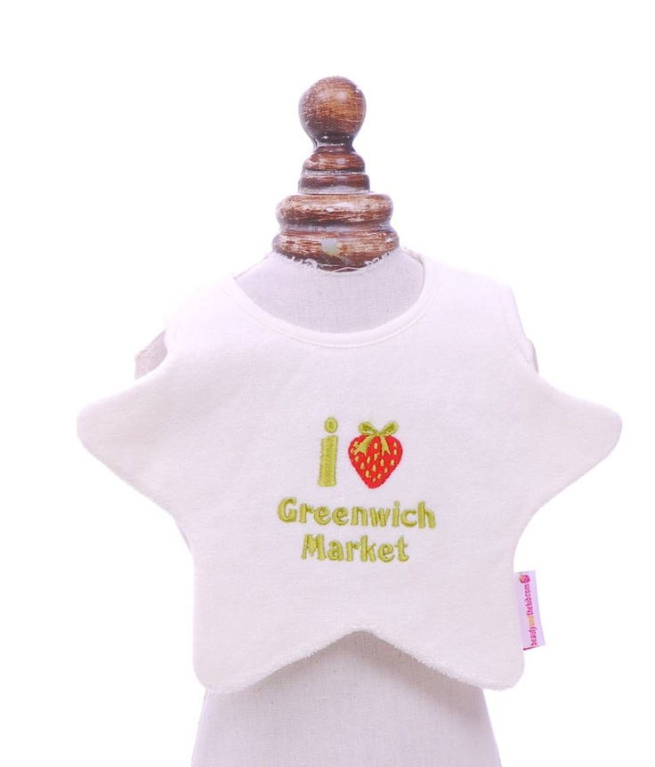 I love Greenwich Market by 'Beauty & the bib'. £9