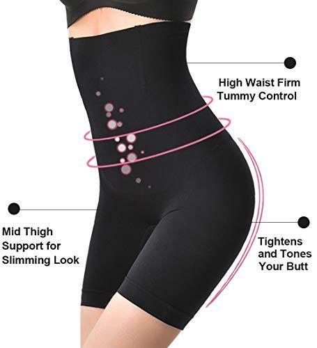 36adc4442c Komica Tummy Control Shapewear for Women High-Waist Body Shaper Shorts  Thigh Seamless Panties