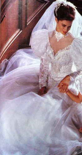 Alfred Angelo wedding gown - OMFG epic 80's dress...I almost kinda want it. >.>