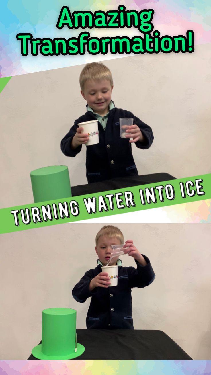 Wie man Wasser in Eis verwandelt / Erstaunlicher Trick für Kinder   – Easy magic tricks and fun april fools day jokes to play on your kids