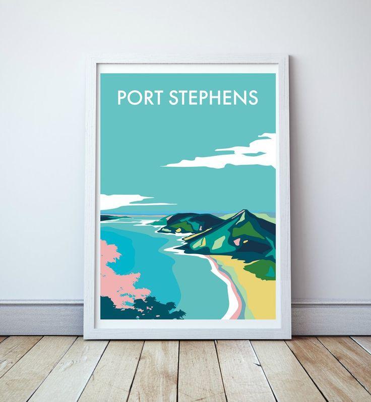 Port Stephens Travel Print