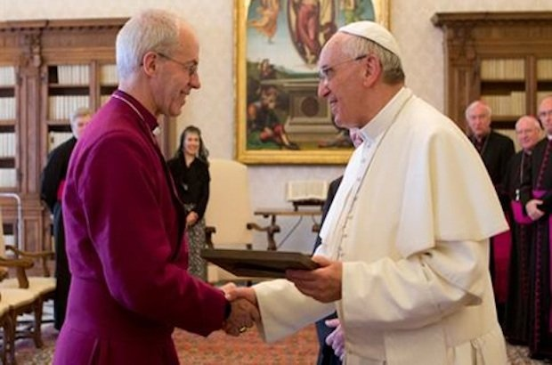 Archbishop Justin and Pope Francis meet in Rome