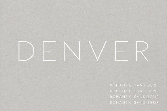 Denver | A Romantic Sans Serif by Jen Wagner Co on @creativemarket