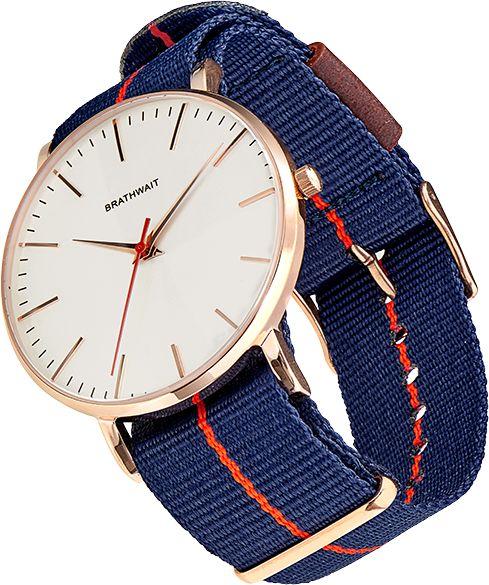 The classic slim wrist watch: Azur strap – Brathwait