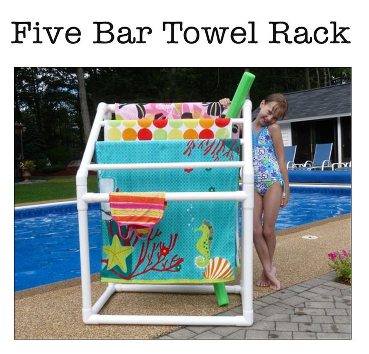 Pool Towel Sign With Hooks: It's Written On The Wall: {Gotta See} Summer Fun In The