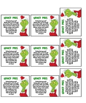 How The Grinch Stole Christmas Grinch Pills gave a few bags out at work for fun