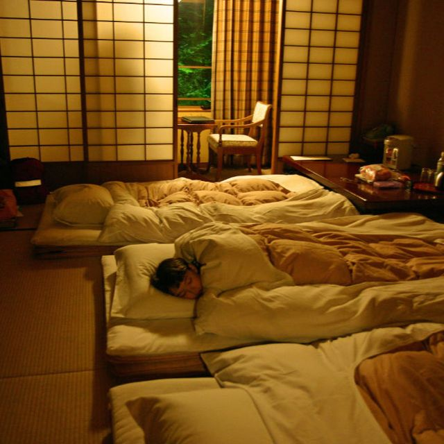 Sleeping in a Ryokan, Miyajima Island