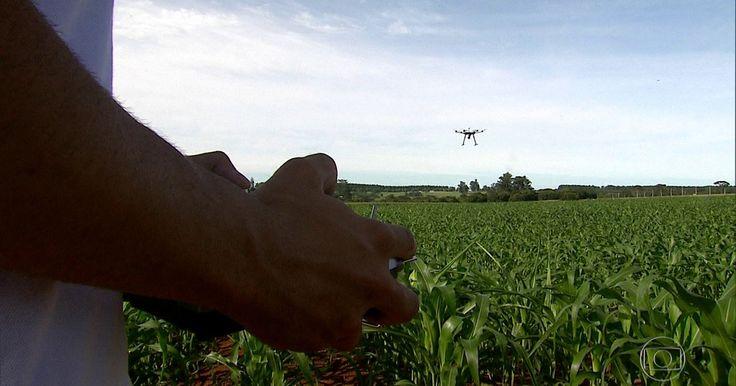 Investimento em inovação é porta de saída para a crise, mostra série do JN Drone ajuda agricultor a ver como anda a sua lavoura. Com aplicativo, consumidor faz compra sem passar pelo caixa.
