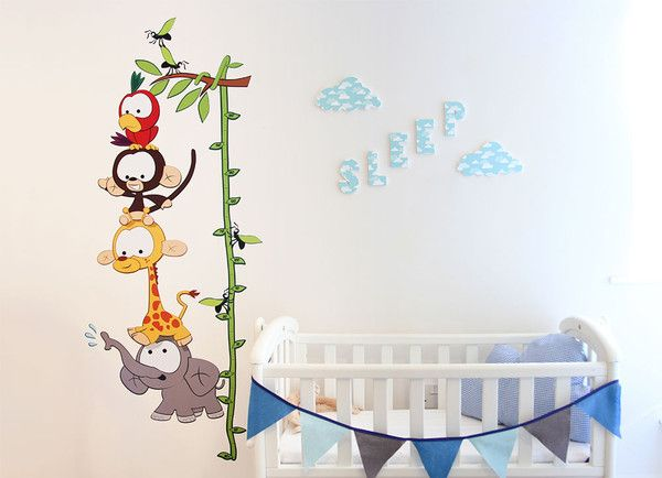 www.vinylimpression.co.uk Baby jungle height chart for tracking the growth of you little monkey!
