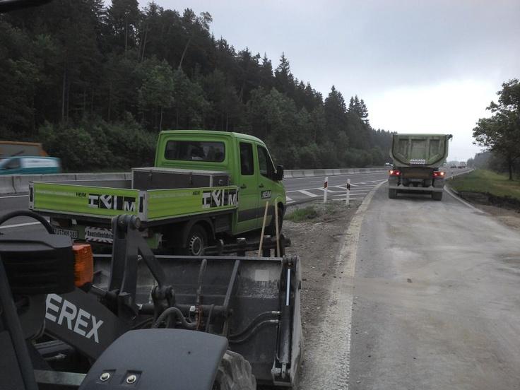 Bilder unserer Strassenbau (Straßenbau) Baustellen. Asphaltieren, Pflastern und mehr...