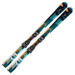 """The RTM 86 has positioned itself as the widest and burliest ski in Volkl's All Mountain """"Ride the Mountain"""" collection. The RTM series has strong influence from frontside carving skis, yet retains strong ability around the entire mountain thanks to Volkl's unique and innovative design and construction. The RTM 86 uses camber under foot with long, low tip and tail rocker."""
