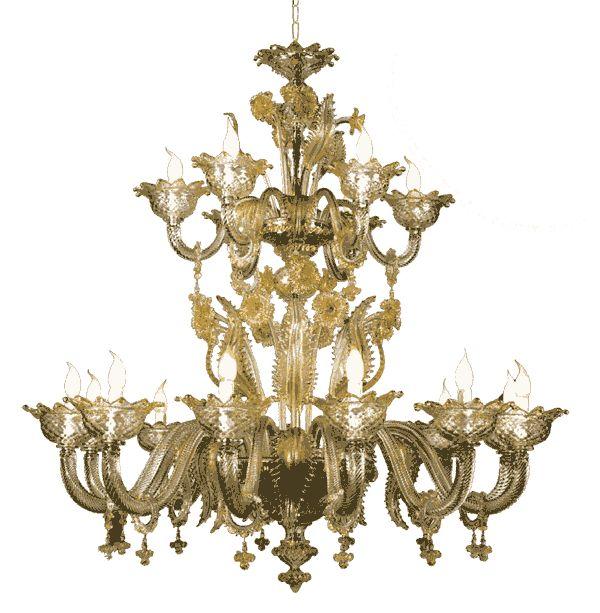 #lampadario #vetro #murano. Lampadario in vetro di murano trasparente e oro. Sistema con 18 luci. H. 140 cm – ø. 140 cm. Disponibili su richiesta varianti di dimensioni e colori. > www.danielebiasin.it/portfolio-items/lampadario-in-vetro-di-murano-trasparente-e-oro/?portfolioID=10997