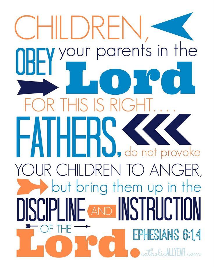 Catholic All Year: Twelve Free Father's Day Printables Ephesians 6: 1,4