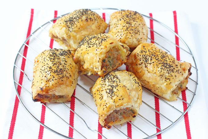 Delicious kid friendly sausage rolls packed with carrot and courgette. Everyone will love these Hidden Veggie Sausage Rolls!