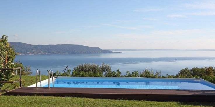 Your own private pool overlooking Lake Garda; is there anywhere more perfect for a morning dip? | Property 14507, available to book now: http://www.bookingsforyou.com/holiday-rentals-italy/lake-como-accommodation,-lake-maggiore-accommodation/villa-storica