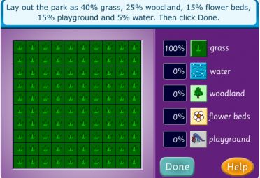 Fractions, Decimals and Percentages Lesson - Plan a Park - Australian Curriculum Lessons