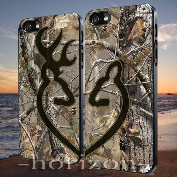 Love Browning Deer Camo Real Tree Couple design for iPhone 4/4s case, iPhone 5/5s/5c case, Samsung Galaxy S3/S4 case on Etsy, $29.70