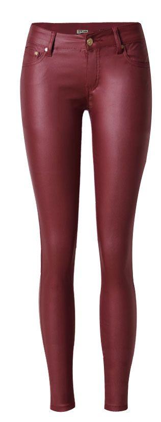 Nieuwe Casual lage waisted skinny leren broek vrouwen jegging broek jeans leggings rood volledige lengte plus size voor vrouw Vrouwen in  grootte1. taille3. heupen4. binnenkant van het been2. front stijgeneuukusaaucmcmcmcmcmcmcmcm32xxs4045 van Capri broek& op AliExpress.com | Alibaba Groep