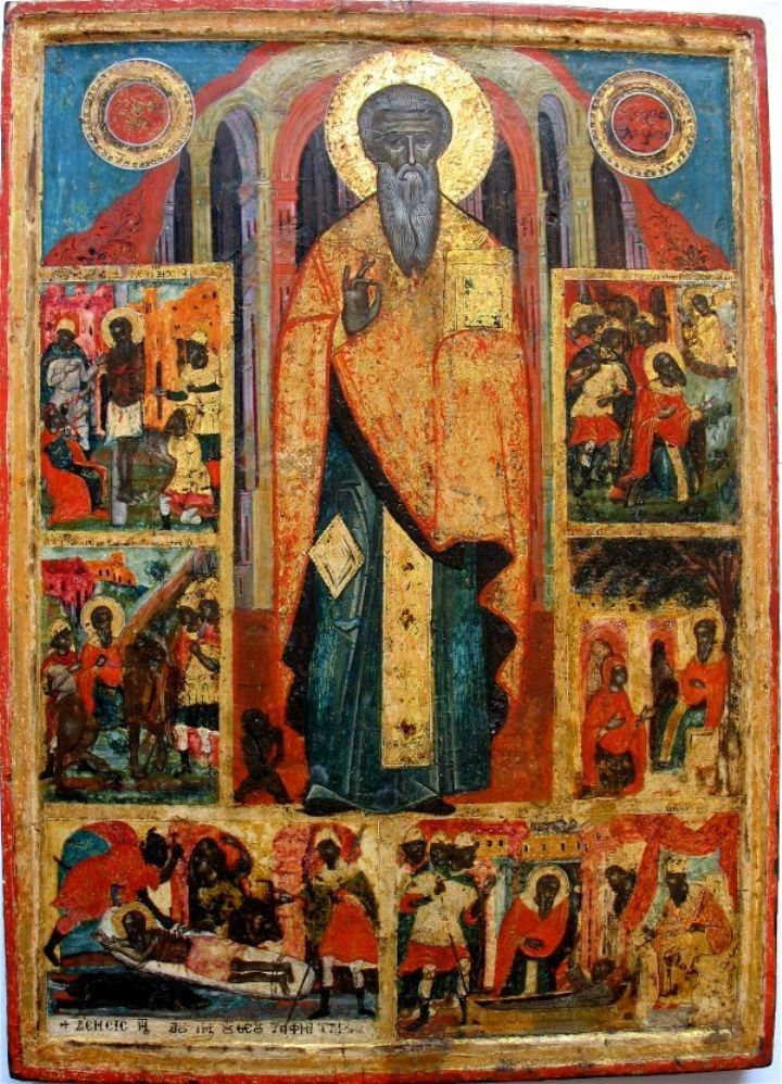 Св.Харалампий со сценами житий, 18 в., Греция, частное собрание