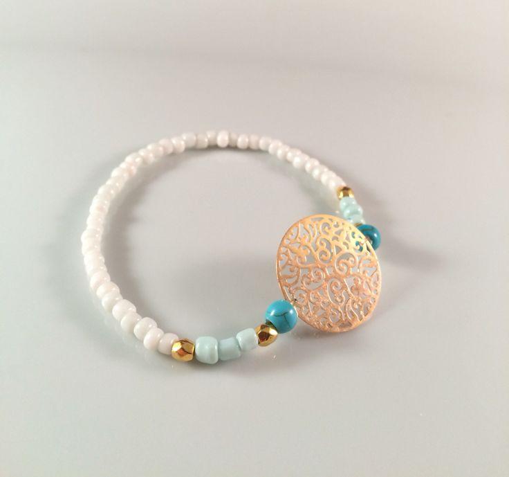 NEW | <3 dit super leuke golden turquoise Ibiza armbandje | vanaf nu te bestellen voor € 5,00 per stuk