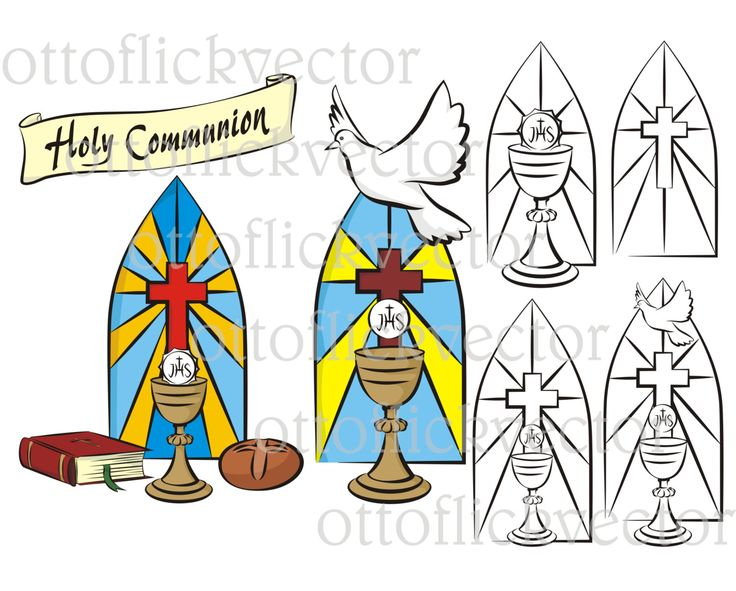 HOLY COMMUNION Vector CLIPART eps, ai, cdr, png, jpg, background, banner, holy spirit, faith, love, hope, chrystian religion symbols & icons by ottoflickvector on Etsy
