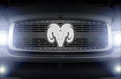 Reese Towpower 86066 Licensed LED Hitch Light Cover with Dodge Ram Logo