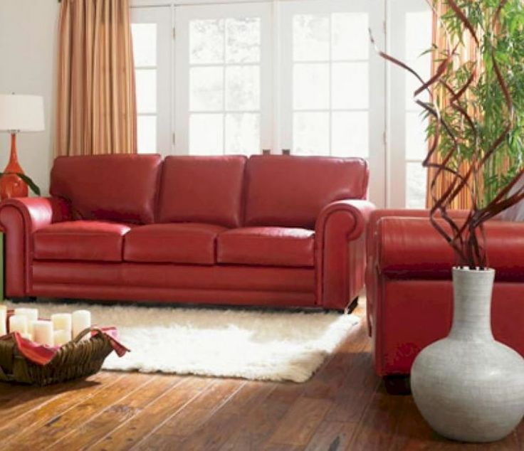 21 best Red Leather Sofa images on Pinterest | Red leather couches ...