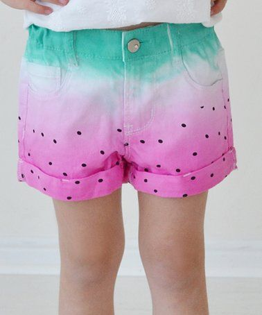Loving this Pink Watermelon Shorts - Infant & Girls on #zulily! #zulilyfinds