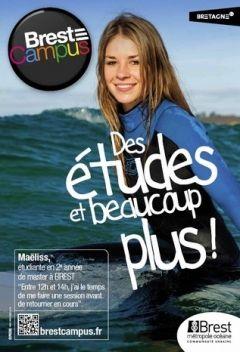 Marque Bretagne - Affiches Brest Campus    Brest Métropole Collectivité   Affichage 2013
