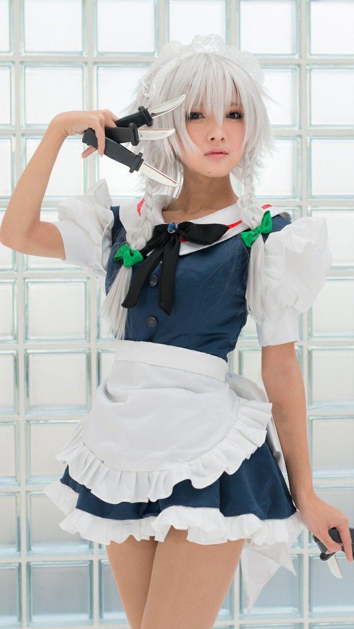 touhou sakuya izayoi cosplay コスプレ かわいいコスプレ コスプレの女の子