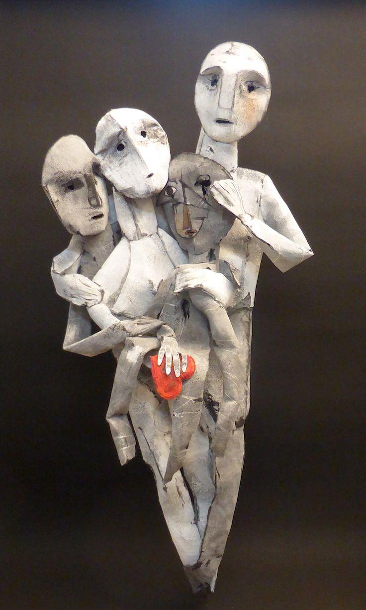sculpture textile# feutre industriel# Nadine Vergues