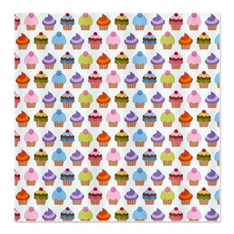 I Love Cupcakes Shower Curtain by nicholsco
