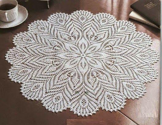 Crochê Gráfico: Centro de mesa em crochê