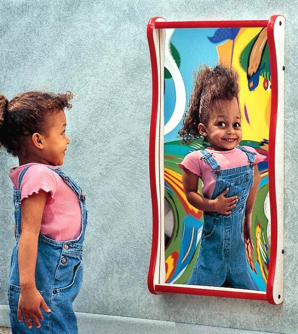 Fun mirrors in the snoezelen room