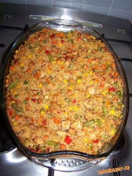 RYCHLÉ ZAPEČENÉ BAREVNÉ RIZOTO - nízkokalorické, zdravé jednoduché, výtečné - i pro ne zrovna milovníky rýže jako jsem já !!!!