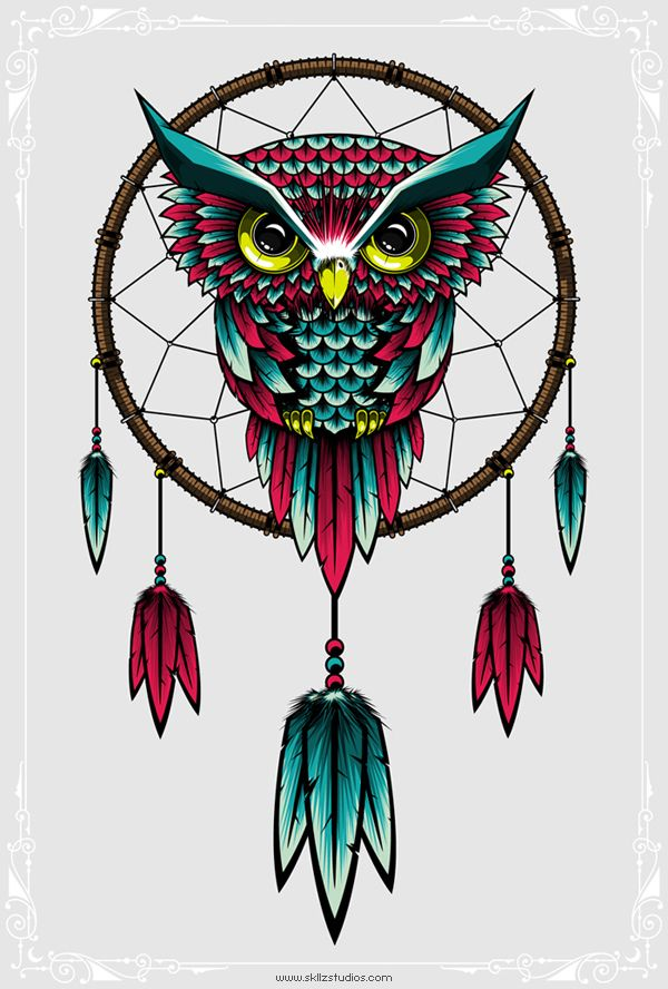 Owl dreamcatcher drawing - photo#41