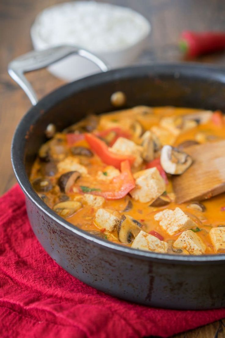 Classic Thai Red Curry with Tofu and Mushrooms   One Ingredient Chef