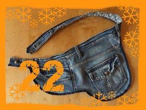 Gürteltasche aus alter Jeans