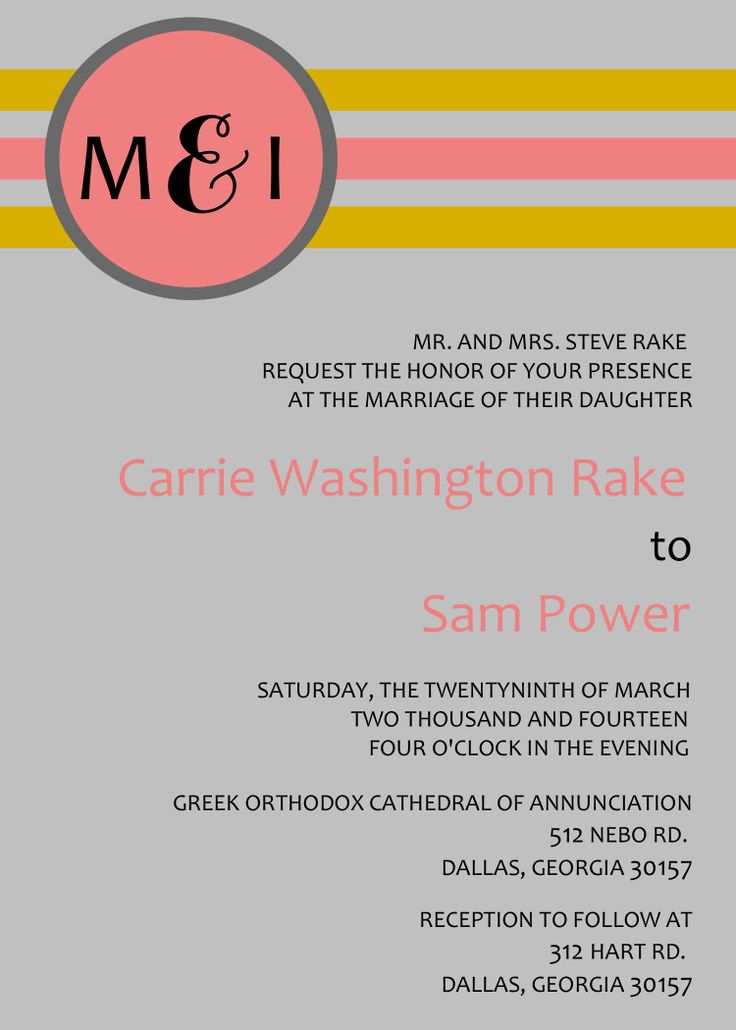This Invitation Was Created For A Wedding