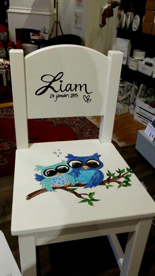 Handmålad barnstol med dina ord & tankar...